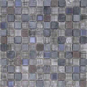 Mozaiek Grijs Linnen