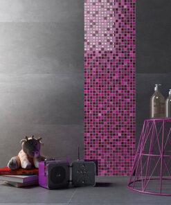 Mozaiek Paars Glans