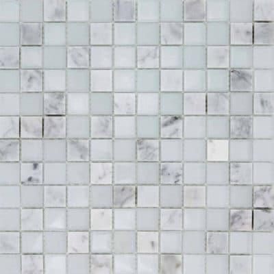 Mozaiek Wit Marmer Kristal
