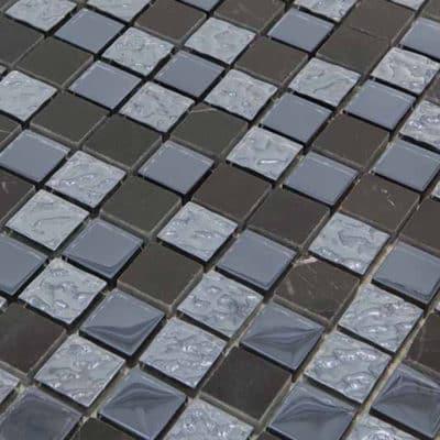 Mozaiek Zwart Glans 23