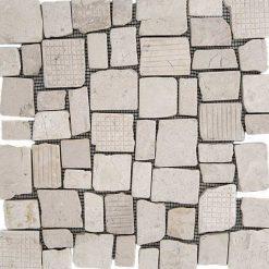 Mozaiek Kader Steen Wit
