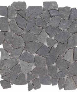 Mozaiek Gebroken Steen Zwart Grijs