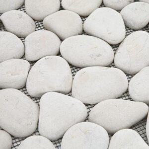 Mozaiek Kiezel Wit