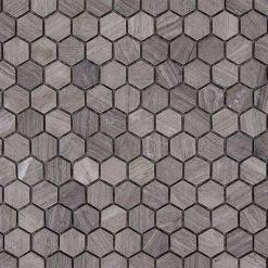 Mozaiek Zeshoek Grijs