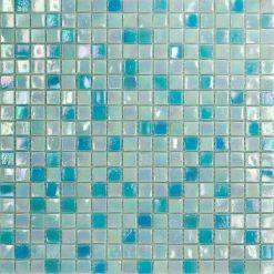 Mozaiek Iridium Blauwe Mix