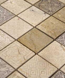 Mozaiek Kader Design Creme