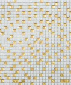 Mozaiek Pixel Wit Met Goud