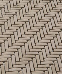 Mozaiek Visgraat Juta Bruin