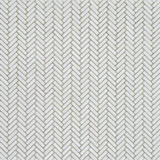 Mozaiek Visgraat Puur Wit