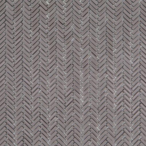 Mozaiek Visgraat Zadel Grijs