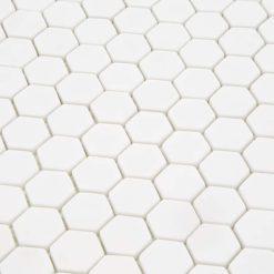 Mozaiek Zeshoek Puur Wit