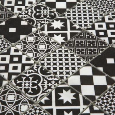 Mozaiek Zwart Cement