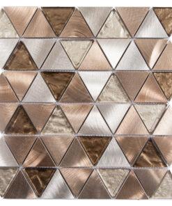 Glas- en MetaalmGlas- en Metaalmozaiek - Trinity Bronze Brons Koperozaiek - Trinity Bronze Brons Koper