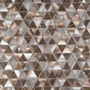 Glas- en Metaalmozaiek - Trinity Bronze Brons Koper CU