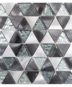 Glas- en Metaalmozaiek - Trinity Silver Zilver