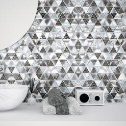 Glas- en Metaalmozaiek - Trinity Silver Zilver Sfeer