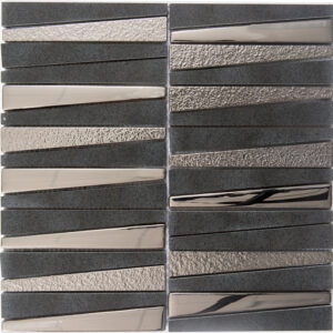 Glas- en Natuursteenmozaiek - Stardust Black Zwart Goud