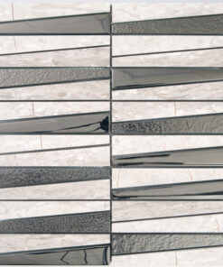 Glas- en Natuursteenmozaiek - Stardust Greige Grijs Beige