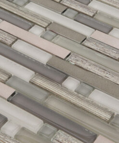 Glasmozaiek - Brons Glam Metaal CU2