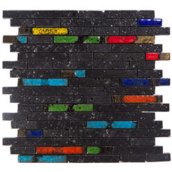 Glazuurmozaiek - Lava Multicolor