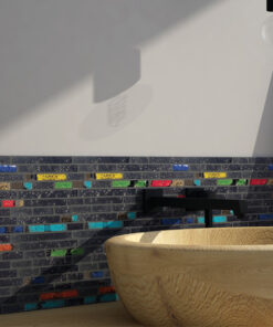 Glazuurmozaiek - Lava Multicolor Sfeer