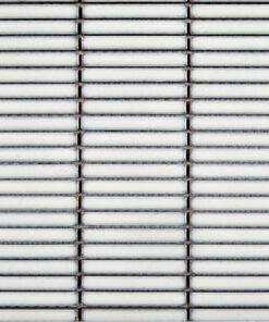 Glazuurmozaiek - Stick Sidney Wit