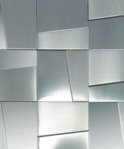 Metaalmozaiek - Hastings Silver Zilver