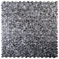 Metaalmozaiek - Kiezel Brighton Black Zwart