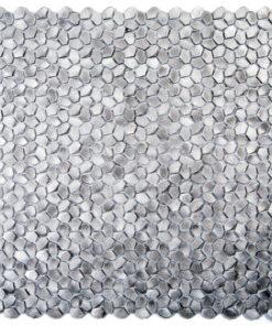 Metaalmozaiek - Kiezel Brighton Silver Zilver