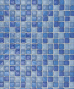 Glas- en Natuursteenmozaïek - Blauwe Gloed 15x15