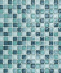 Glas- en Natuursteenmozaïek - Groene Gloed 15x15