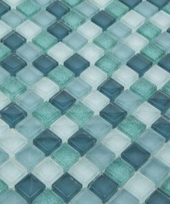 Glas- en Natuursteenmozaïek - Groene Gloed 15x15 CU