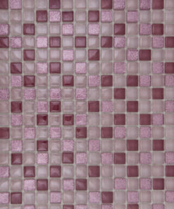 Glas- en Natuursteenmozaïek - Roze Gloed 15x15