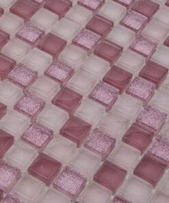 Glas- en Natuursteenmozaïek - Roze Gloed 15x15 CU