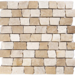 Natuursteenmozaïek - Brick Mix Beige 30x30