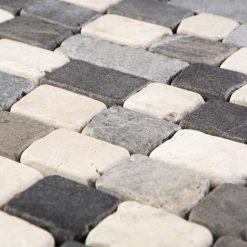 Natuursteenmozaïek - Brick Mix Grijs 30x30 CU2