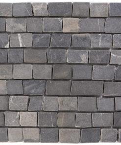 Natuursteenmozaïek - Brick Nero 30x30