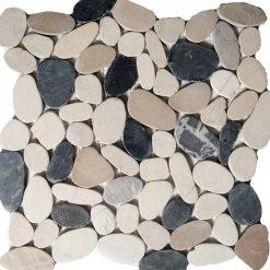 Natuursteenmozaïek - Ciottolopiatto Grigio 30x30