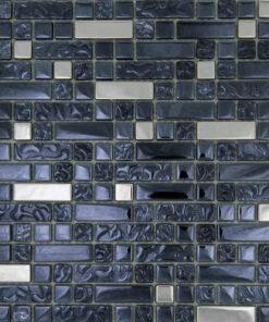 Natuursteenmozaïek - Multimix Zwart Zilver