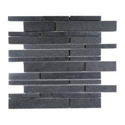 Natuurstenmozaiek - Leisteen Zwart Multi