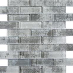 Glas- en Natuursteenmozaïek - Merletto parel grijs